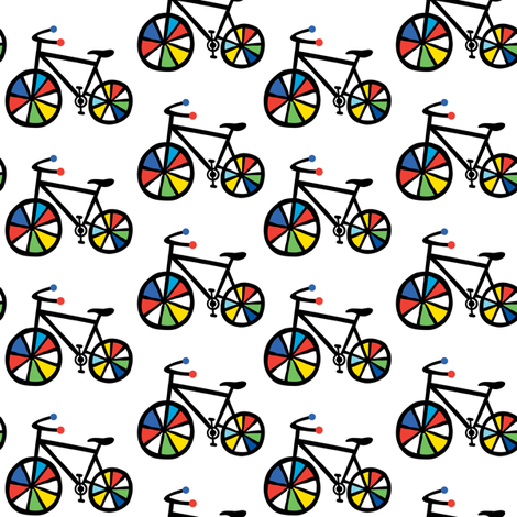 Ride a Bike fabric by andibird on Spoonflower - custom fabric