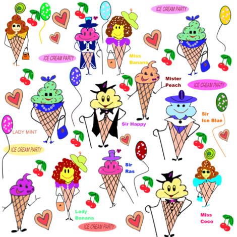 The IceCream Ball ! fabric by createdgift on Spoonflower - custom fabric