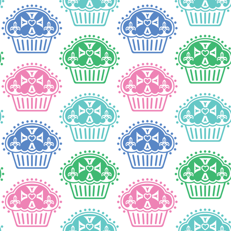 Keep Calm and Eat Cupcakes fabric by andibird on Spoonflower - custom fabric