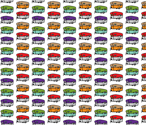 Happy Camper Trailers fabric by andibird on Spoonflower - custom fabric