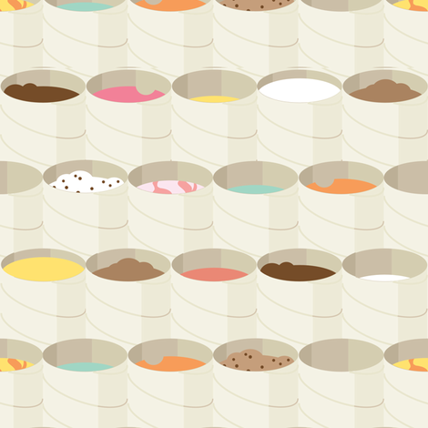 tons of tubs  fabric by aperiodic on Spoonflower - custom fabric