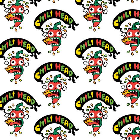 Chili Head fabric by andibird on Spoonflower - custom fabric