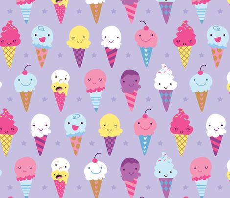 icecream fabric by weedledee! on Spoonflower - custom fabric