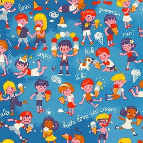 Ice cream kids! | blue
