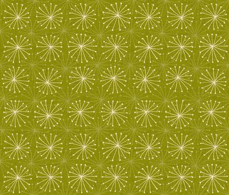 seedheads green fabric by scrummy on Spoonflower - custom fabric