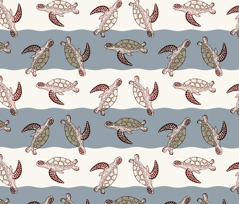 Green Turtle fabric by kim_buchheit on Spoonflower - custom fabric