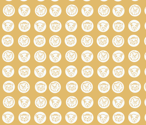 faces fabric by circlesandsticks on Spoonflower - custom fabric
