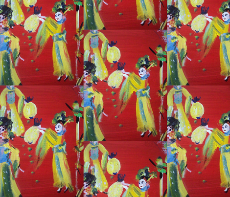 Geisha Girl fabric by myartself on Spoonflower - custom fabric