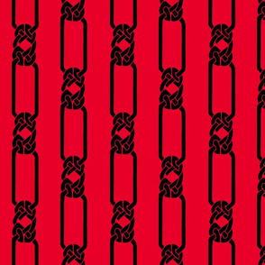 open border-1 black on red
