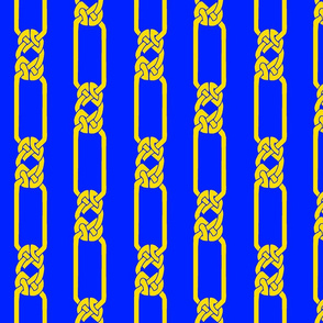 open border-1 gold on blue