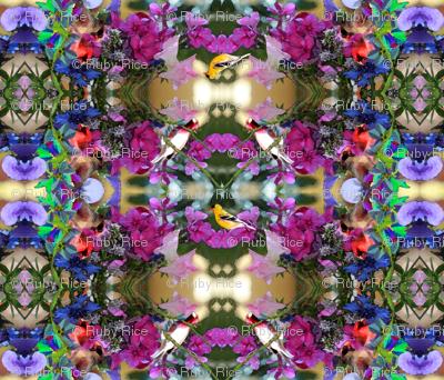 Birds and flowers, MANDALA