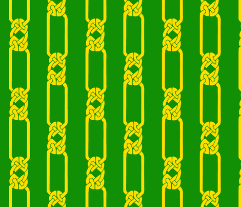 open border-1 gold on green fabric by ingridthecrafty on Spoonflower - custom fabric