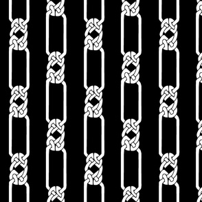 open border-1 white on black