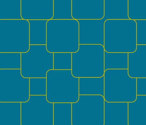 Landscape in blue moss fabric by lana_kole on Spoonflower - custom fabric