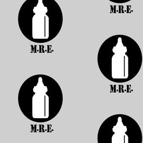 The Infantry - Baby Bottle Design - Light Grey