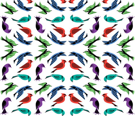 Birds Royale fabric by andibird on Spoonflower - custom fabric
