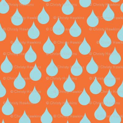 rain on orange