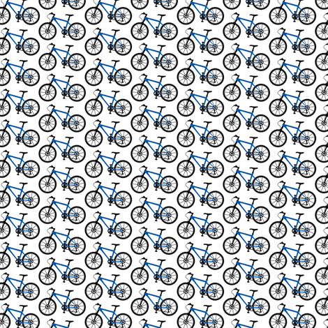 Mountain Bike blue TINY fabric by andibird on Spoonflower - custom fabric