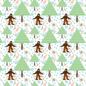 Bigfoot Fabric Wallpaper Amp Gift Wrap Spoonflower