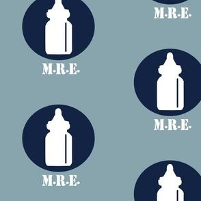 The Infantry - Baby Bottle Design - Blues