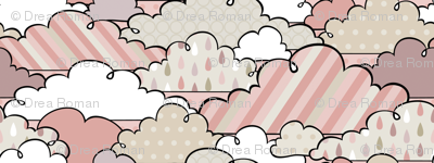 If By Air - In Flight, Clouds (Pink)