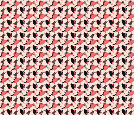 Shades of Pink & Grey fabric by eppiepeppercorn on Spoonflower - custom fabric