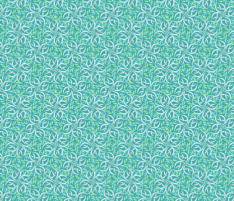 © 2011 floralfiesta-seabreeze fabric by glimmericks on Spoonflower - custom fabric