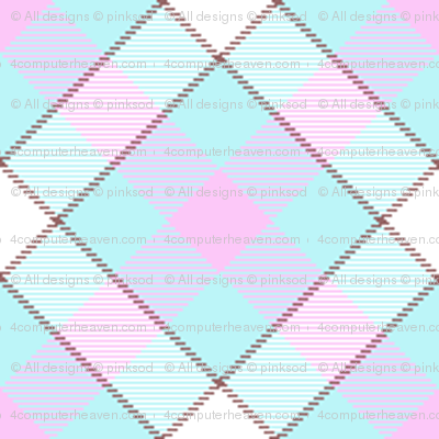 Popbi! - Brightbluesky - Multi Tartan Cocoa - © PinkSodaPop 4ComputerHeaven.com