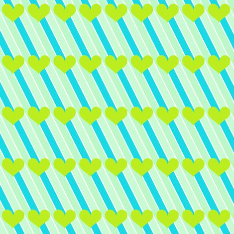 Popbi! - LimeSodaPop - Striped Love - © PinkSodaPop 4ComputerHeaven.com  fabric by pinksodapop on Spoonflower - custom fabric