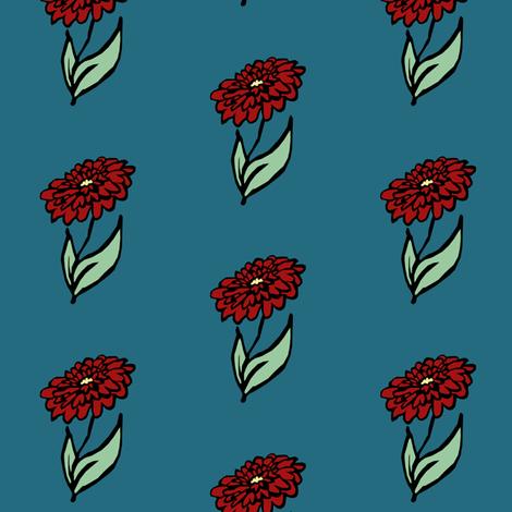 Dahlia   fabric by pond_ripple on Spoonflower - custom fabric