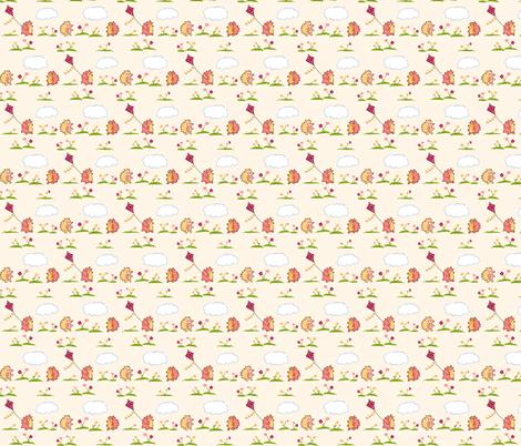 Hedgehog Play Day fabric by mandyd on Spoonflower - custom fabric