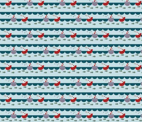 Fishing fabric by phatsheepfabrics on Spoonflower - custom fabric