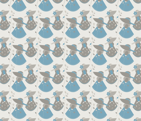 Touch of Blue Sue II fabric by eppiepeppercorn on Spoonflower - custom fabric