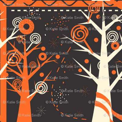 Halloween Candy Forest