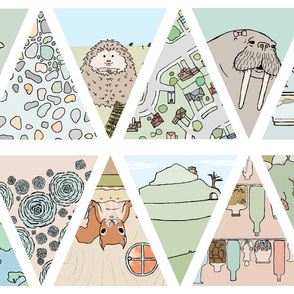 doodle and hoob bunting