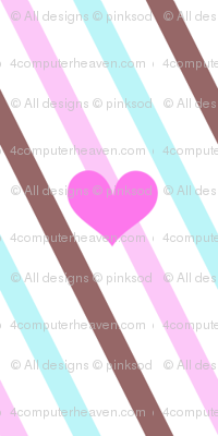 Popbi! - Brightbluesky - Diagonal Heart Striped! - © PinkSodaPop 4ComputerHeaven.com