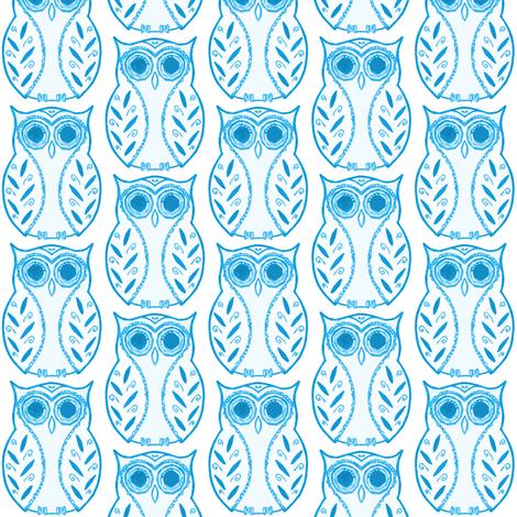 owlie fabric by caresa on Spoonflower - custom fabric