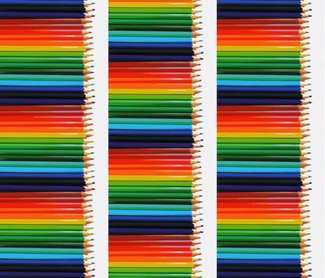 Pencils fabric by blue_jacaranda on Spoonflower - custom fabric