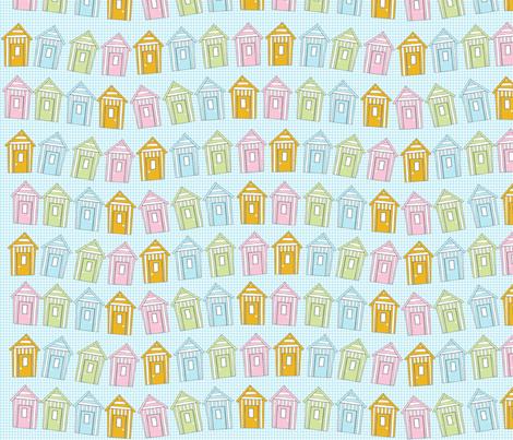 beach_hut fabric by jojoebi_designs on Spoonflower - custom fabric
