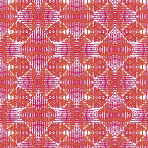 Patterned pink + mustard diamonds + stripes by Su_G