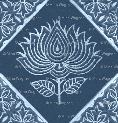 Japanese-fabric-stamps-flower-diamond-INDIGO - adj 2012