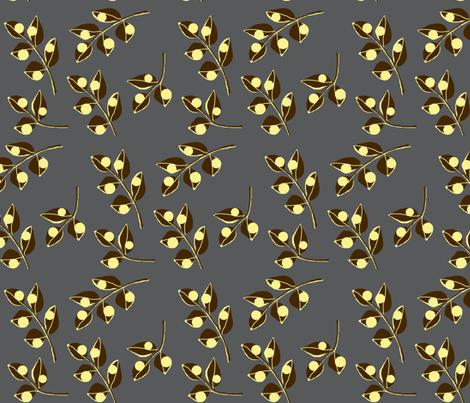 Urban steel / leaf fabric by paragonstudios on Spoonflower - custom fabric