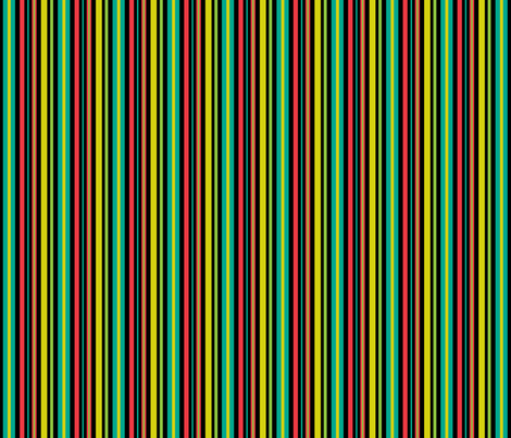 Pop Bot Stripe Black fabric by modgeek on Spoonflower - custom fabric