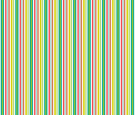 Pop Bot Stripe White fabric by modgeek on Spoonflower - custom fabric
