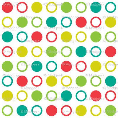 Pop Bot Dot White