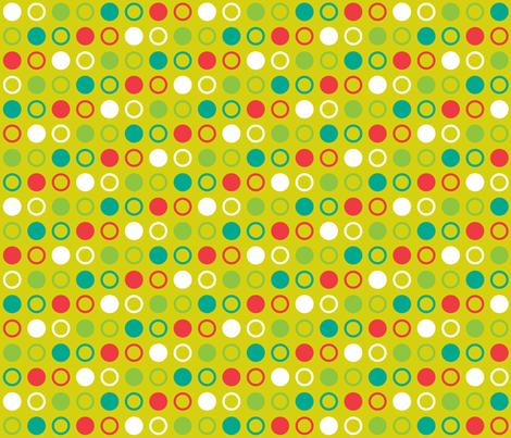 Pop Bot Dot Yellow fabric by modgeek on Spoonflower - custom fabric