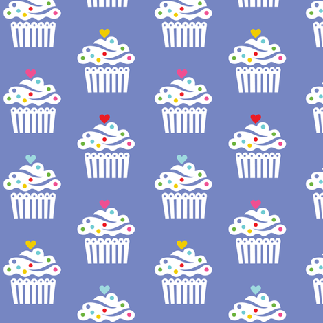 Cupcakes Frilly Larger fabric by andibird on Spoonflower - custom fabric
