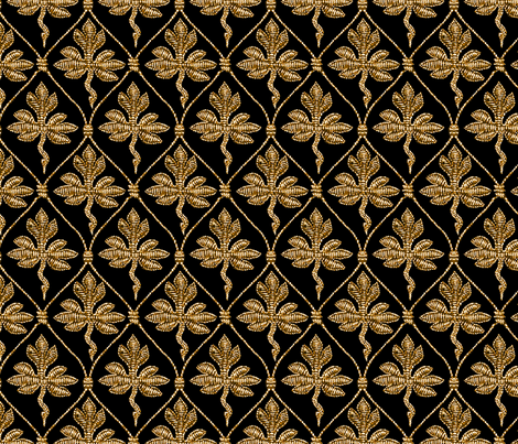 Elizabeth I. Phoenix Portrait Fabric- Black/Gold - No Pearls fabric by bonnie_phantasm on Spoonflower - custom fabric