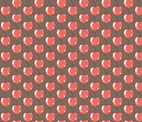 Cherry dark chocolate fabric by majobv on Spoonflower - custom fabric