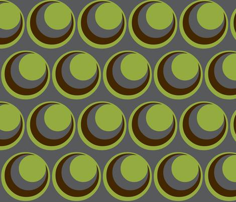 Urban green /  circles fabric by paragonstudios on Spoonflower - custom fabric